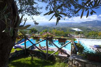 Luxury vacations rentals villa with pool near Avellino, beautiful private park with stunning view.  5 bedrooms, 4 bathrooms up to 10 sleeps