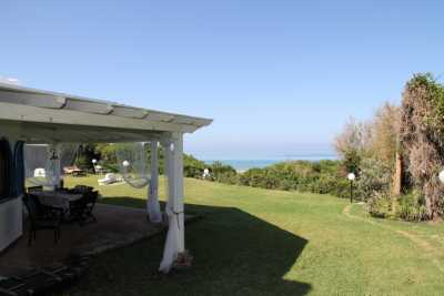 Exclusive beachfront vacation villa rental with private access to the beach of Sabaudia Circeo close to Torre Paola with 4 bedrooms and 4 bathrooms
